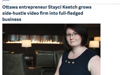 Ottawa entrepreneur Stayci Keetch grows side-hustle video firm into full-fledged business
